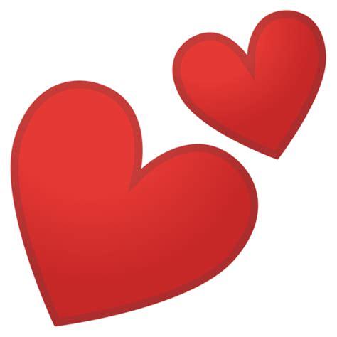 imagenes de corazones separados zwei herzen emoji
