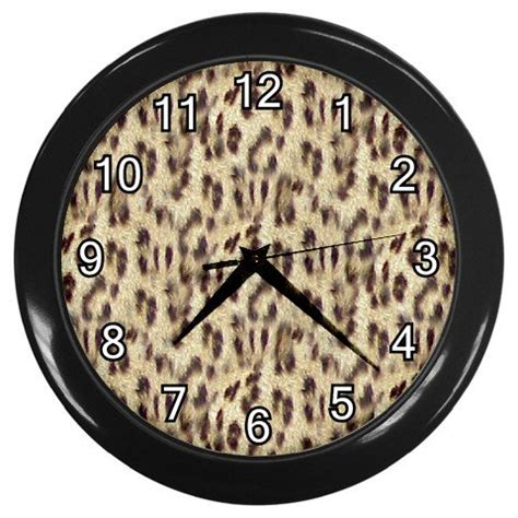 leopard print home decor leopard print wall clock office home decor gift time 16998317