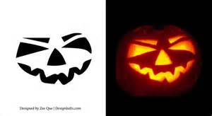 easy pumpkin templates simple scary pumpkin carving patterns