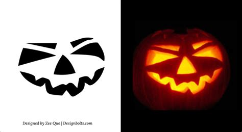 easy pumpkin carving templates free printable simple scary pumpkin carving patterns