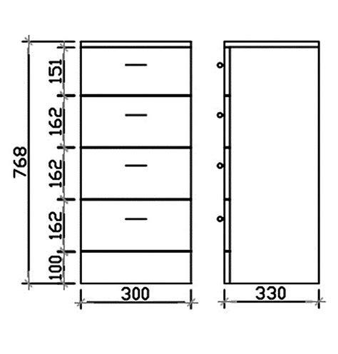 Gloss White 4 Drawer Bathroom Storage Unit 300 X 330mm Vty060 Gloss White 4 Drawer Bathroom Storage Unit 300 X 330mm Vty060