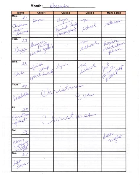 free weekly family calendar template blank weekly calendar with times