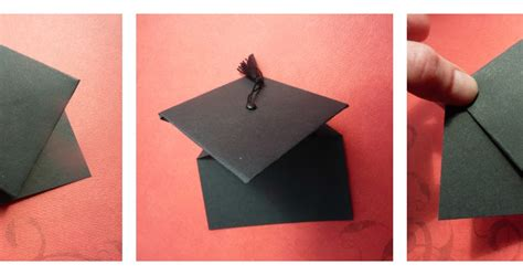 Origami Graduation Hat - no time to be bored handmade graduation cards