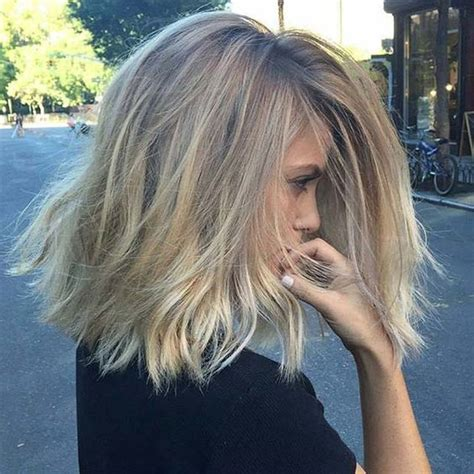 hairstyles to cover blonde roots 31 lob haircut ideas for trendy women dark blonde