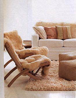 sheepskin lounge chair covers sheep skin warm modern