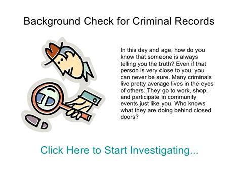 Check Criminal History Record Background Checks Criminal Records
