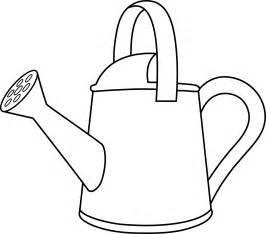 Water Pot Outline by Colorable Watering Can Outline Free Clip