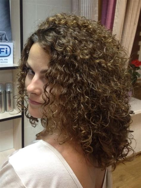 photos of mid lengh permed hair spiral perm for medium hair length long hairstyles