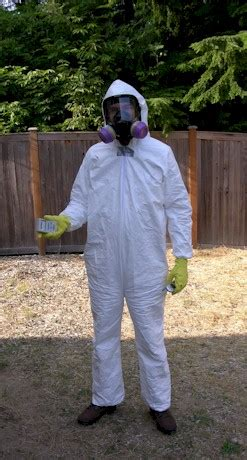 mold remediation proper attire for remediation tyvek suit respirator and gloves