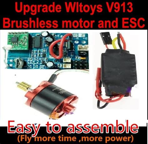 Motor V913 wltoys v913 brushless motor and esc kit for wltoys