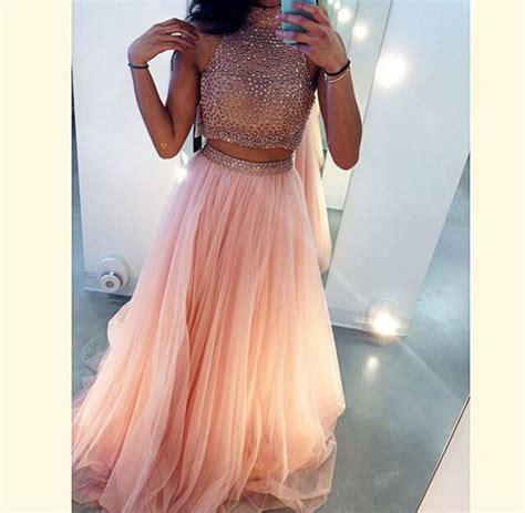 Longdress Set 2in1 Glitter Pink dress prom dress glitter dress 2 skirt set style skirt crop tops wheretoget