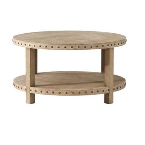 Coffee Table Home Depot Home Decorators Collection Nailhead 36 In W Washed Oak Coffee Table 1314100930 The Home Depot