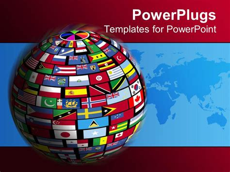 Powerpoint Template Country Flags Cover The World For All Nations To Come Together In Relations Flags Of The World Powerpoint