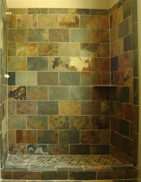 slate bathroom shower tiled showers pictures