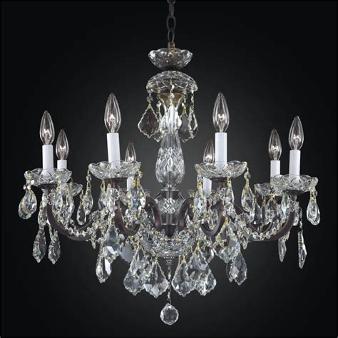 Iron And Crystal Chandelier 8 Light Chandelier Old World Lighting Chandeliers