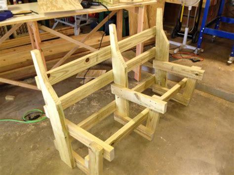 a frame bench deck furniture phase i