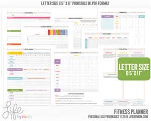 printable health and fitness planners and printable