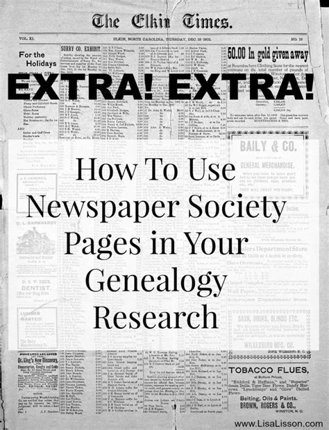 Genealogy Research Newspapers how to use newspaper society pages in your genealogy research genealogy newspaper and how to use