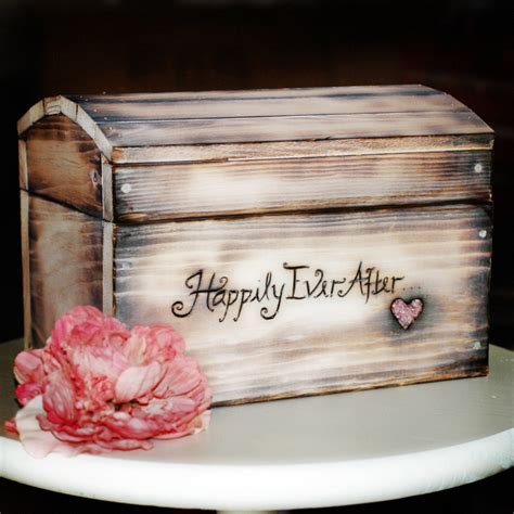 extra large shabby chic white personalized card box for wedding cards