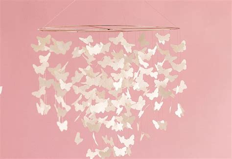 Handmade Paper Butterfly - handmade paper butterfly mobile brings magic to the