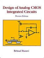 cmos integrated circuits analysis and design design of analog cmos integrated circuits book by behzad razavi 6 available editions alibris