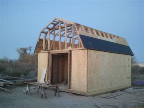 how to build a barn style roof gambrel roof with porch shed joy studio design gallery