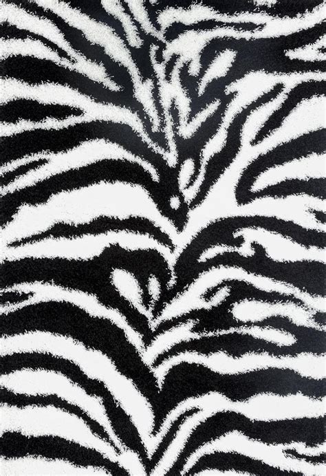 white modern rugs zebra white black luxury shag area rug modern contemporary