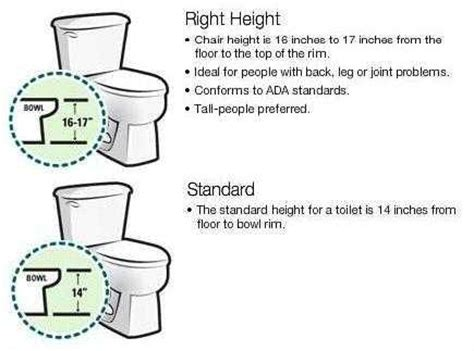 how high is a comfort height toilet bathroom the home depot community