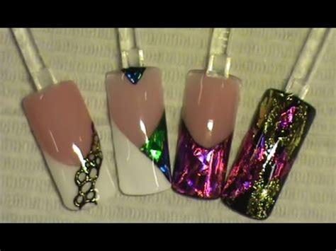 Design Folie Aanbrengen nagel transfer folie aanbrengen op gel design youtube