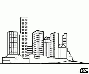 city skyline coloring pages
