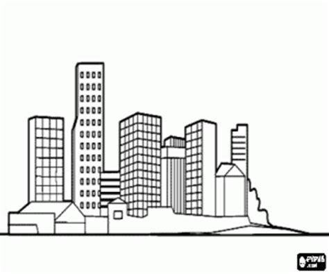 City Skyline Coloring Pages Chicago Skyline Coloring Page