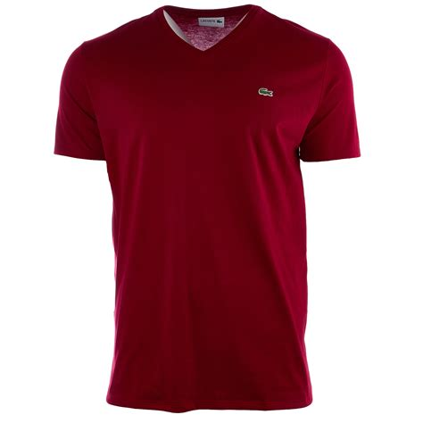 Neck Cotton T Shirt lacoste v neck pima cotton jersey t shirt mens