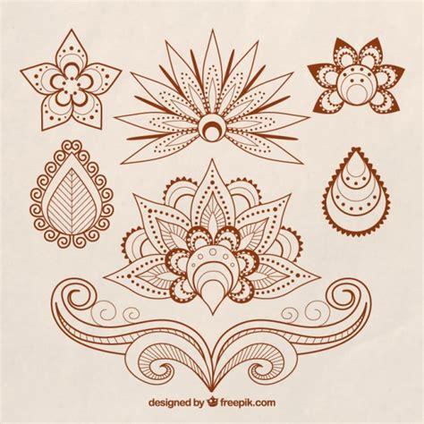 Henna Motive by Conjunto De Tatuajes De Henna De Tema Floral Descargar