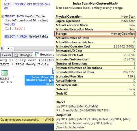 sql server memory optimized table in memory memory optimized tables in sql server 2014
