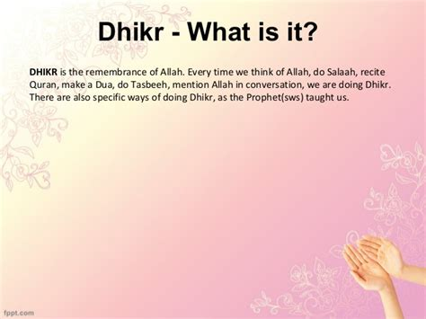 what is the fastest fiqh of adhkar zikr dhikr