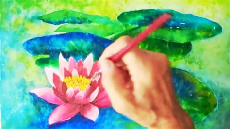 watercolor water lily tutorial water lily watercolor tutorial easy step by step lesson