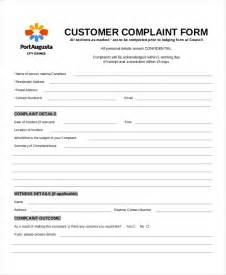 Complaint Form Template by Customer Complaint Form 8 Free Pdf Doc
