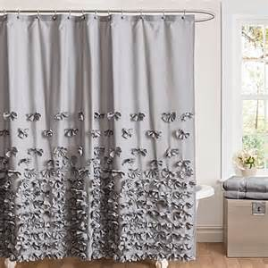 buy juliet bow 72 inch x 84 inch shower curtain in grey - Grey Shower Curtain