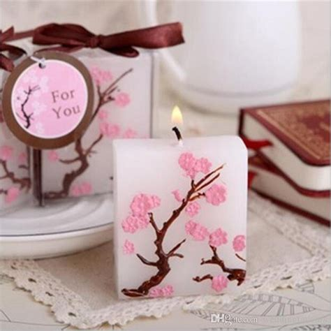 Bridal Shower Giveaway Gifts - cherry blossom candle favors bridal shower wedding giveaways anniversary souvenirs