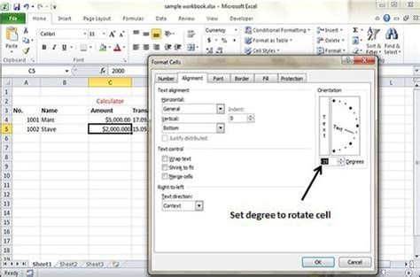 tutorialspoint excel rotate cells in excel 2010