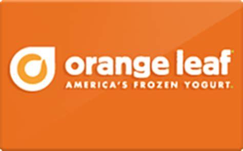 Orange Leaf Gift Card - buy orange leaf gift cards raise