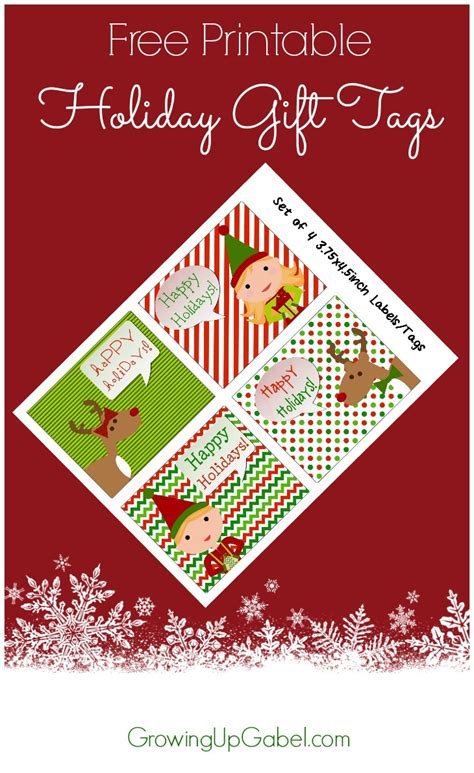 Hp Printable Gift Tags | free printable gift tags and how to save on ink
