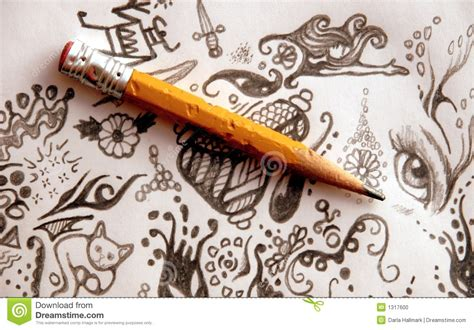 doodle pensil pencil and doodles stock photo image of idle bored