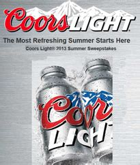 Coors Sweepstakes - coors light summer 2013 sweepstakes