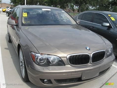 2007 kalahari beige metallic bmw 7 series 750i sedan 17113344 gtcarlot car color galleries