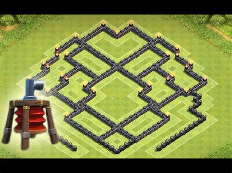 coc th8 layout with air sweeper clash of clans new town hall 8 air sweeper farming base