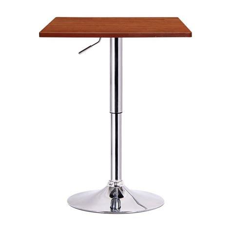 Adjustable Bar Table Boraam Luta Walnut And Chrome Adjustable Pub Bar Table 99630 The Home Depot