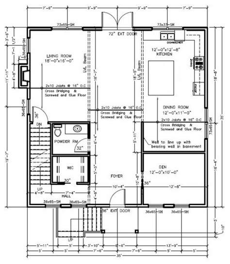 engineering floor plan floor system 2x10 joist versus engineered floor system