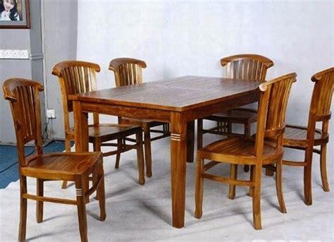 Gambar Dan Meja Makan Kayu Jati contoh model set meja makan dari bahan kayu jati terbaru