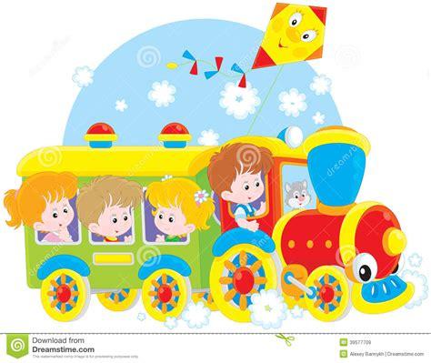 imagenes de niños viajando viaje de los ni 241 os en tren ilustraci 243 n del vector imagen